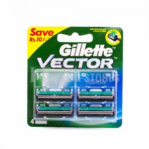 Gillette Vector Blade - 4 Cartridge