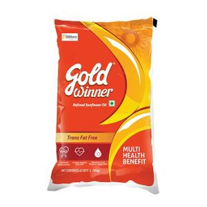 Gold Winner Refined Sunflower Oil 1 Ltr Pouch