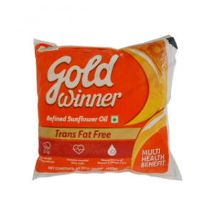 Gold Winner Refined Sunflower Oil 500 ml Pouch