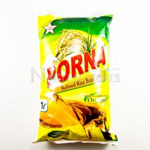 Poorna Refined Rice Bran Oil 1 ltr Pouch