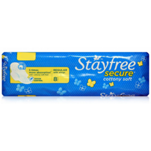 Stayfree Secure - Regular with Wings 8pcs
