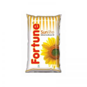 Fortune Refined Sunflower Oil 1 Ltr Pouch