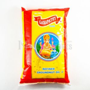 Ganapathy Refined Groundnut Oil 1 Ltr Pouch